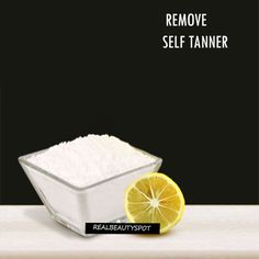 HOW TO REMOVE SELF TANNER