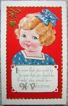 postcard.quenalbertini: Vintage Valentine Card   eBay