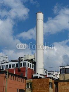 Altes Heizkraftwerk zur Wärmegewinnung in Frankfurt am Main in Hessen