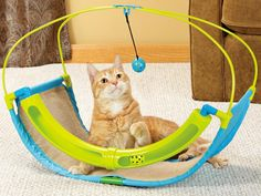 This ToyShoppe Playables Kitty Rocking Roller cat toy keeps the ball rolling, enticing your cat to play. The toy features a sisal surface, which is great for scratching.