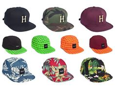 The Huf Summer 2012 Cap Collection is made up of three snapback caps and seven volley caps. Streetwear, Huf, Snapback Cap, Baseball Cap, Summer, Collection, Clothing, People, Style