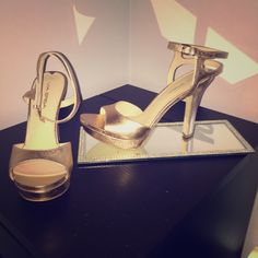 Rose gold via spiga heels shoes pumps strappy shoe Only worn once awesome condition Via Spiga Shoes Heels