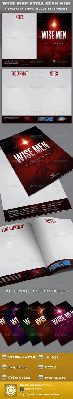 Church Bulletin Template BundleVol   Churches Print