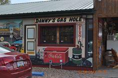 https://flic.kr/p/cTVUj1 | Danny's Gas Hole on duty mechanic mural | Route 66 Rocker  Fanning US 66 Outpost  5957 HWY ZZ CUBA, MO 65453