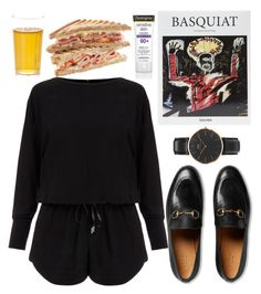 """out"" by kayquarter on Polyvore featuring Gucci, Helmut Lang, Daniel Wellington and Neutrogena"
