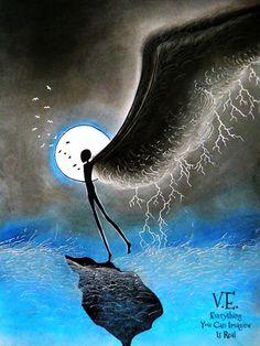 Everything You Can Imagine Is Real, fantasy paintings by Eszter Anna Vörös - Ego - AlterEgo Fantasy Drawings, Fantasy Paintings, Weird And Wonderful, One Pic, Surrealism, Mythology, Mystic, Illustration Art, Illustrations