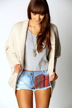 Rhian Oversized Open Front Cardigan love the shorts too x