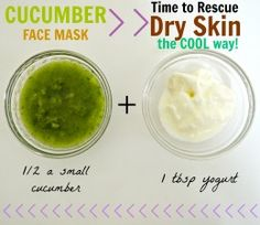 Even dry flaky skin that peels off like dry glue can be rescued with this gentle and cooling cucumber face mask. For extra moisture, add in coconut or olive oil.