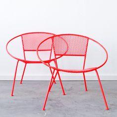 C+C MCM Hoop Chair Pair furniture, red, coral #productdesign #furnituredesign