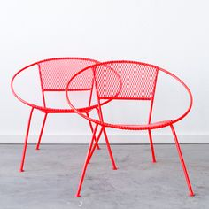 C+C MCM Hoop Chair Pair furniture, red, coral #productdesign #furnituredesign