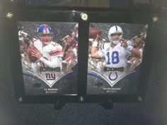 Eli & Peyton Manning Brothers * New York Giants & Indianapolis Colts * Designer Plaque * NFL Cards $8.95