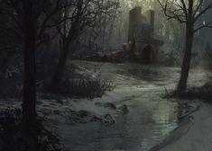 ArtStation - Frozen Swamp, Sean Yang