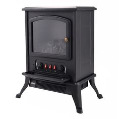 Metal Electric 1000W Fireplace Quartz Tube Heater Fire Flame Stove Adjustable - Fireplaces - Home & Garden