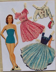 Lennon Sisters Paper Dolls 1958 ALL Four Sisters Original Folder PRE CUT | eBay