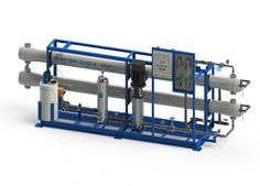 As part of our industrial line, the RO-400 series units can accommodate 28,800 to 172,800 GPD, with feed water TDS ranging from 1000 ppm to 5000 ppm. These systems come standard with media pre-filters, chemical dosing and antiscalant. Customization is available on all our units based on individual water application and customer needs.