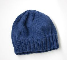 Image of Adult's Simple Knit Hat