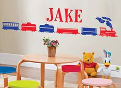 Personalized Name and TRAIN Vinyl Wall Decals by SunshineGraphix, $21.99
