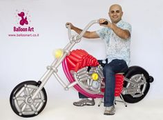It took me 9 hours to create this amazing balloon motorcycle. Do you want a ride? :-) http://www.balloonart.co.il