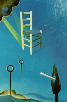 Salvador Dali >> Oil >> The Chair (stereoscopic work, right component), 1976