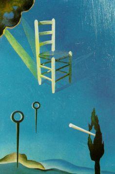 Salvador Dali >> Oil >> The Chair (stereoscopic work, right component), 1976