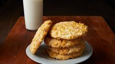 Tita Chelo's Frosted Flake Cookies Recipe From Pati's Mexican Table Season Cookie Desserts, Cookie Bars, Just Desserts, Cookie Recipes, Dessert Recipes, Cookie Swap, Cookie Ideas, Delicious Desserts, Mexican Food Recipes