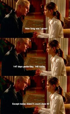Buffy and Spike, loved the tenderness in their short scenes in this episode.