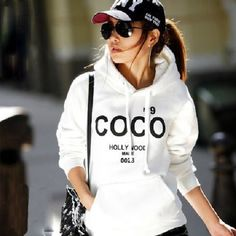 Women-Casual-Hoodie-COCO-Print-Coat-Sweatshirt-Outerwear-Tracksuit-Tops-Sweater