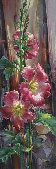 Tole Painting, Fabric Painting, Pen And Watercolor, Watercolor Paintings, Garden Deco, Abstract Flowers, Acrylic Art, Painting Inspiration, Flower Art