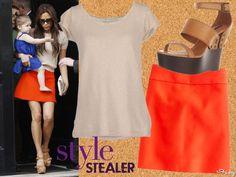 Style Stealer: Victoria Beckham's Spring-Ready Miniskirt Look