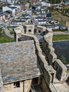 Tower view of New Town of Puebla de Sanabria, Spain
