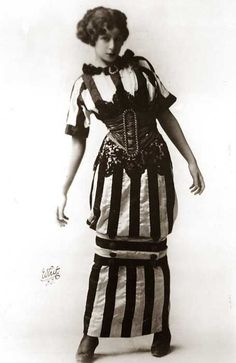 In 1909, as the Edwardian era came to a close – a strange mode appeared in the form of the hobble skirt – a tubular affair, credited by some to Paul Poiret. The hobble skirt effectively clamped a woman's knees together and made movement of any kind a difficulty.
