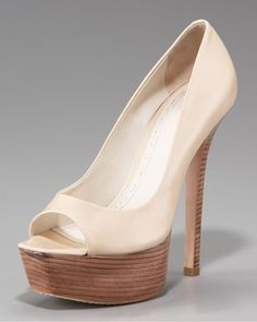 Patent Peep-Toe Pump by Alice + Olivia that actually stay on your feet.