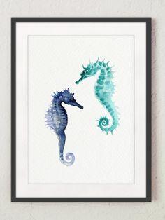 Juego de 4 ofrece Caballito de mar estrellas de por ColorWatercolor