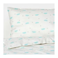 HIMMELSK 4-piece bed linen set for crib, turquoise turquoise 43 1/4x49 1/4/13 3/4x21 5/8