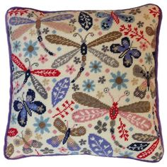 Designed by Suzy Taylor for Bothy Threads, this gorgeous Dragonfly Tapestry cushion front kit is packed full of beautiful colours and floral details.