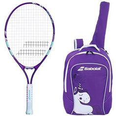 Babolat B Fly 23 Inch Child S Tennis Racquet Racket Kit Or Set Bundled With A Purple Junior Tennis Backpack Best Back To School Gift For Boys And Girls Gol In 2020 Kids