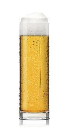 Mohrenbräu beer glasses by Sebastian Reichardt, via Behance