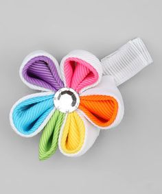 Take a look at this ReiLynn Designs Rainbow Colored Flower Hair Clip by Fancy That: Girls' Accessories on #zulily today!