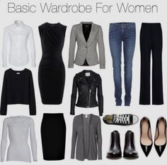 For Women = easier capsule wardrobe and closet = easier life and . Basic Wardrobe For Women = easier capsule wardrobe and closet = easier life and . Wardrobe Basics, Work Wardrobe, Capsule Wardrobe, Wardrobe Staples, Casual Outfits, Fashion Outfits, Womens Fashion, Fashion Tips, Fashion Trends