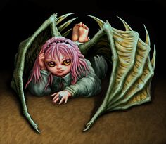 Insouciant This cute petulant vampire bat girl is inspired by Japanese anime characters. Totally digital image made with Photoshop. Vampire Bat, Green Goddess, Anime Characters, Fictional Characters, Batgirl, Gothic Lolita, Digital Image, Fantasy Art, Lion Sculpture