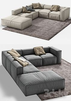 Models: Sofa – BONALDO Peanut B 2 - living room furniture sectional