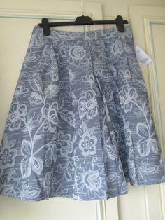 Kew 159 Blue Print Skirt