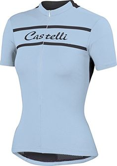 41a638648154 Castelli 2015 Womens Promessa Short Sleeve Cycling Jersey A15052 pale sky S  ** Check out