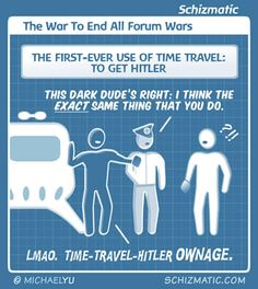 """The War To End All Forum Wars"" -- Image URL: http://schizmatic.com/files/the_war_to_end_all_forum_wars.jpg  -- Source: http://schizmatic.com/comics/2 -- Schizmatic: A Webcomic Of Intelligent Weirdness"