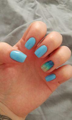 Mermaid nails 💙