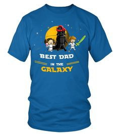 Father Daughter and Son Best DAD in the galaxy TShirt (Round neck T-Shirt Unisex - Royal Blue) #firedept #photography #products father gifts, father illustration, father hero, christmas decorations, thanksgiving games for family fun, diy christmas decorations