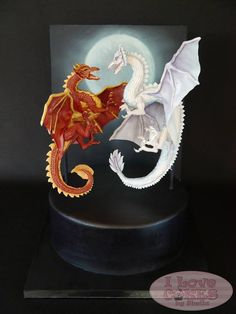 Amazingly awesome duelling dragon cake | By I love Cakes by Sheila