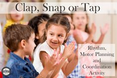 Have you ever stopped to think how may sounds you can make with your body? You can clap, snap, tap, stomp, click and more. These skills c. Fine Motor Activities For Kids, Movement Activities, Music Activities, Physical Activities, Toddler Activities, Sound Song, Motor Planning, Pediatric Occupational Therapy, Rhythm Games
