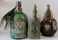 MONIQUE: altered steampunk bottles