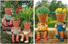 Dit kan je ook met bloem potjes maken